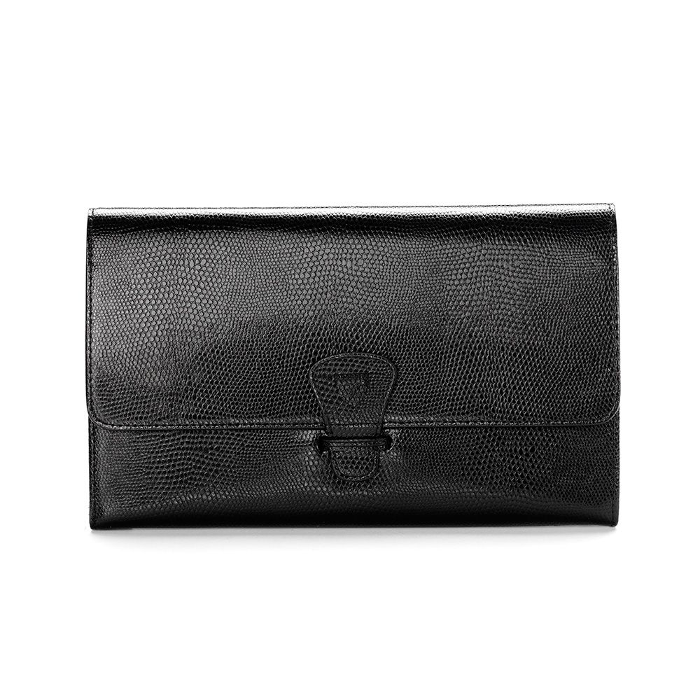Aspinal of London Classic travel wallet Jet Black