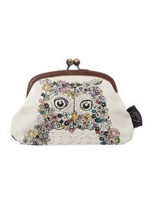 Owl multi-coloured coin purse