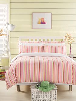 Sherbet stripe duvet set