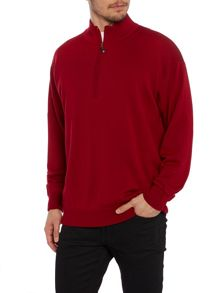 1/2 zip lined merino sweater