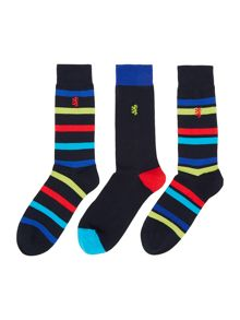 3 Pack Thick Striped Socks