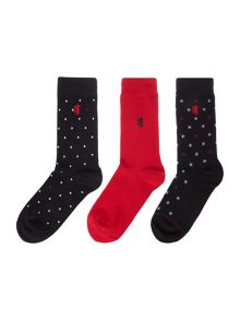 Pringle Patterned Dress Socks