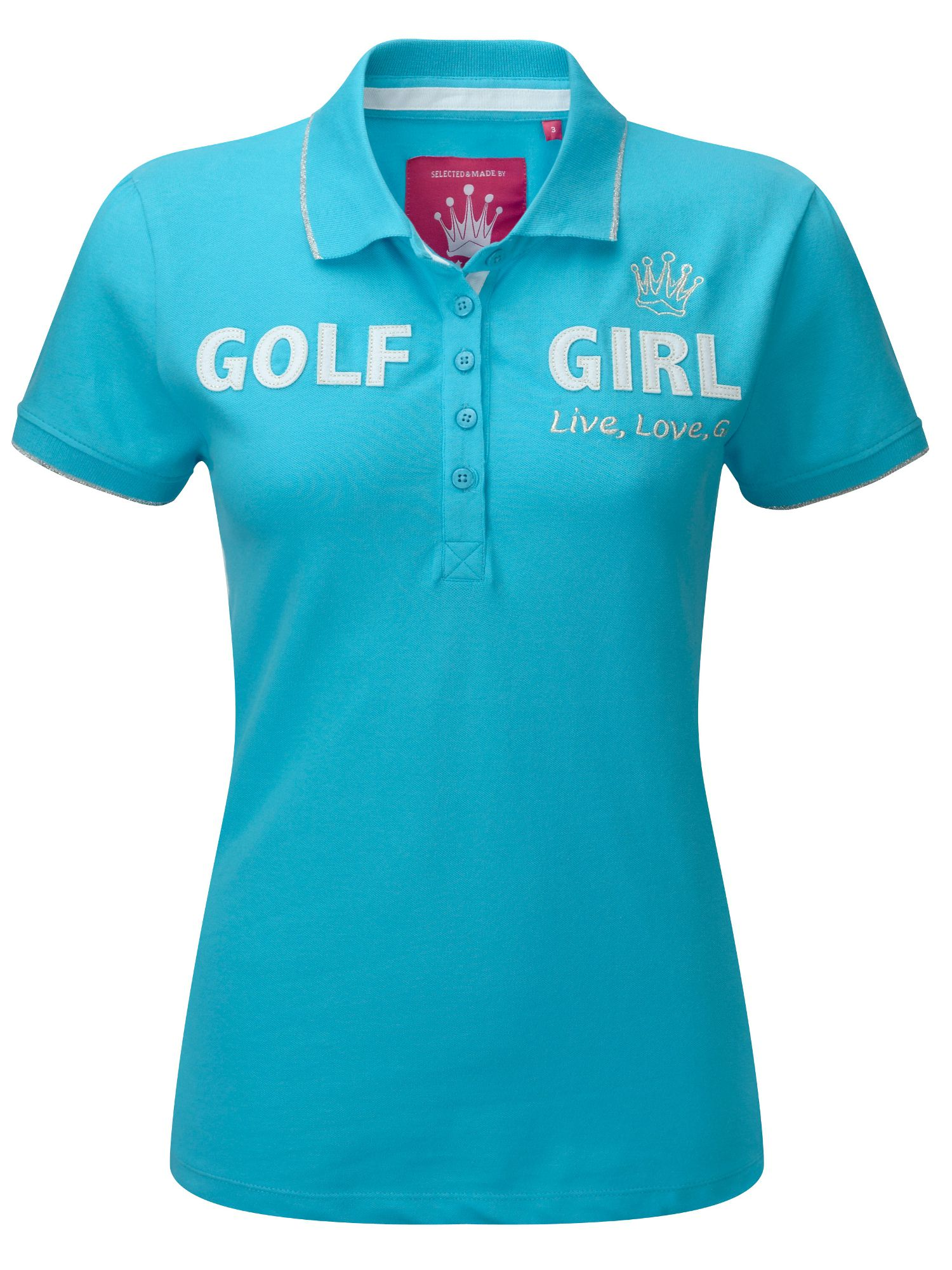 Golf girl clubhouse polo