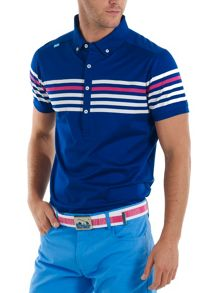 Bunker Mentality Racing stripe playa polo shirt