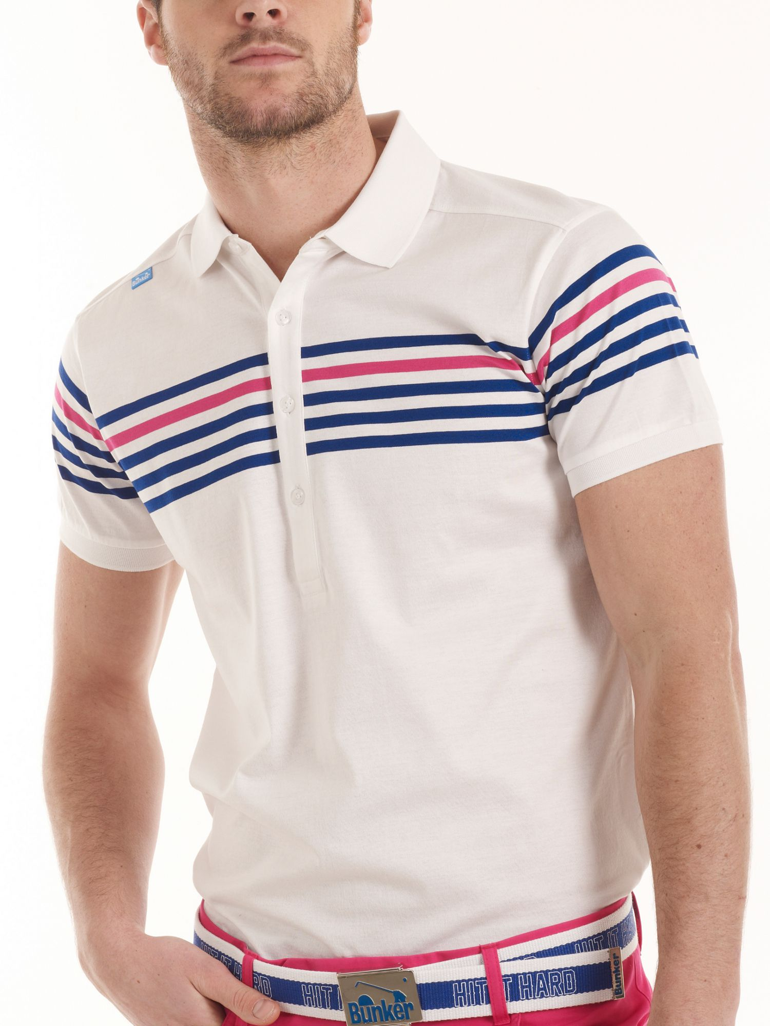 Racing stripe playa polo shirt