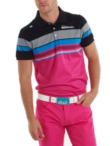 Tour stripe playa polo shirt