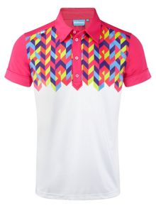 Pattern Polo Regular Fit Polo Shirt