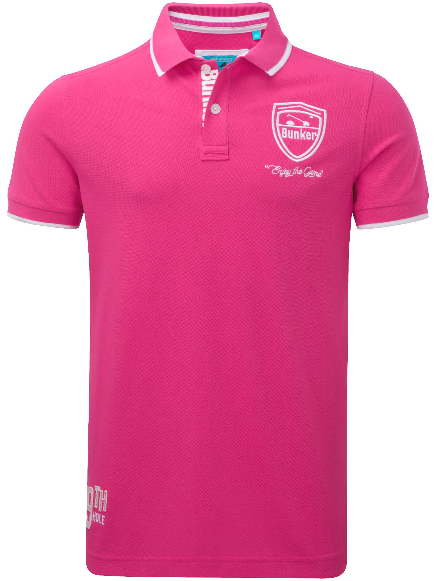 Bunker Mentality Men's Bunker Mentality Plays Superb Clubhouse Polo, Pink