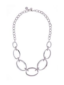 Karen Millen Silver oversized chain necklace
