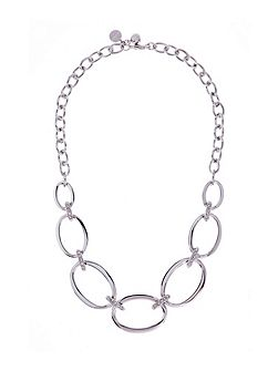Silver oversized chain necklace