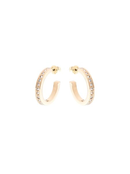 Karen Millen Gold & crystal small hoop earrings
