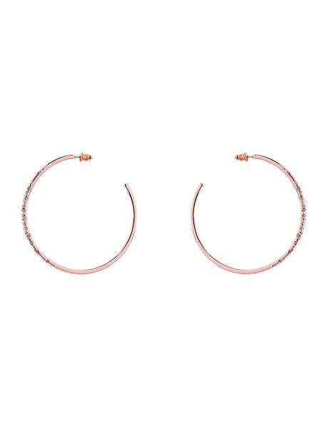 Karen Millen Crystal sprinkle large hoop earrings
