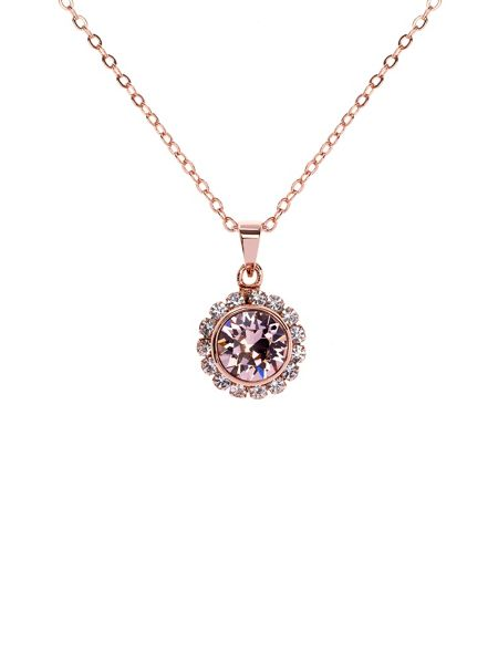 Ted Baker Sela light pink crystal daisy pendant