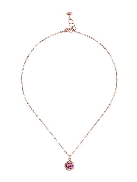 Ted Baker Sela pink crystal daisy pendant