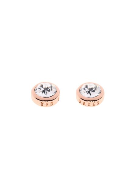 Ted Baker Sinaa rose gold & crystal stud earring