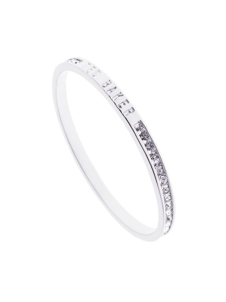 Ted Baker Clem silver narrow crystal band bangle