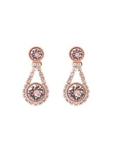 Ted Baker Stormm pink crystal daisy drop earring