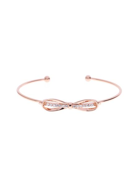 Ted Baker Sorina rose gold sleek bow cuff