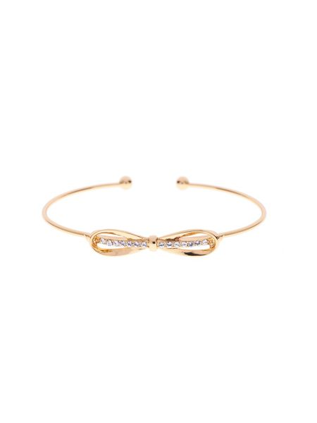 Ted Baker Sorina gold sleek bow cuff