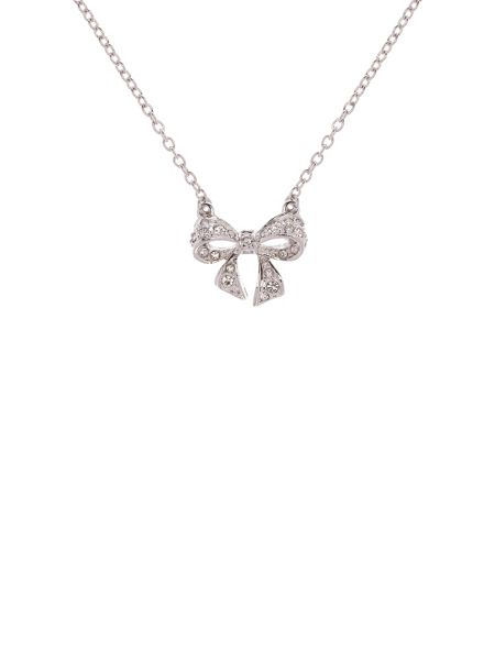 Ted Baker Pepena pave crystal tiny bow pendant
