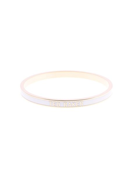 Ted Baker Clary white narrow enamel bangle
