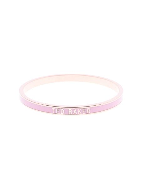 Ted Baker Clary pink narrow enamel bangle