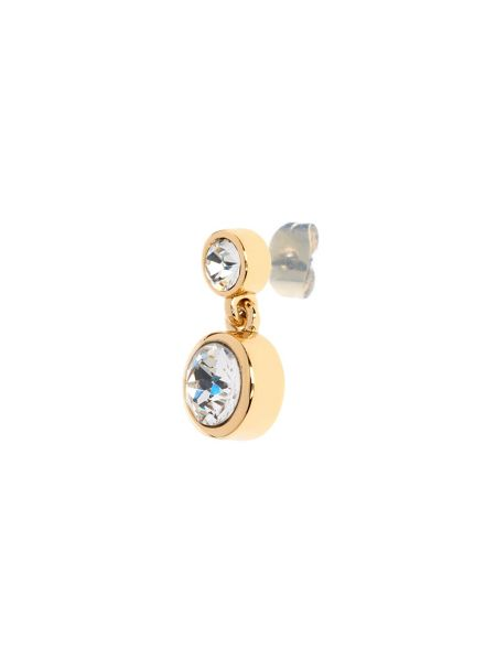 Karen Millen Gold & crystal dot drop earring