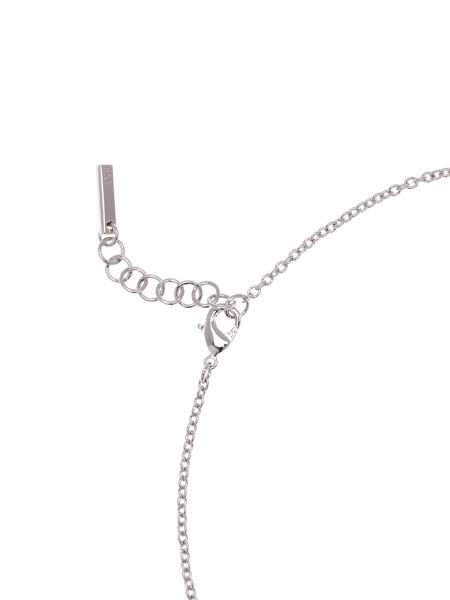 Karen Millen Silver & crystal sprinkle bar necklace