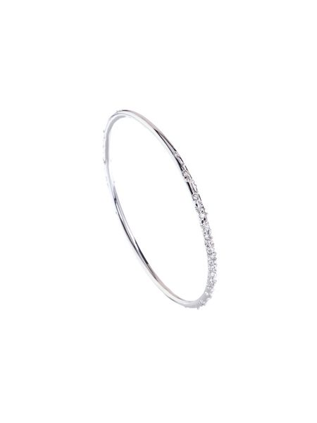 Karen Millen Silver & crystal sprinkle bangle