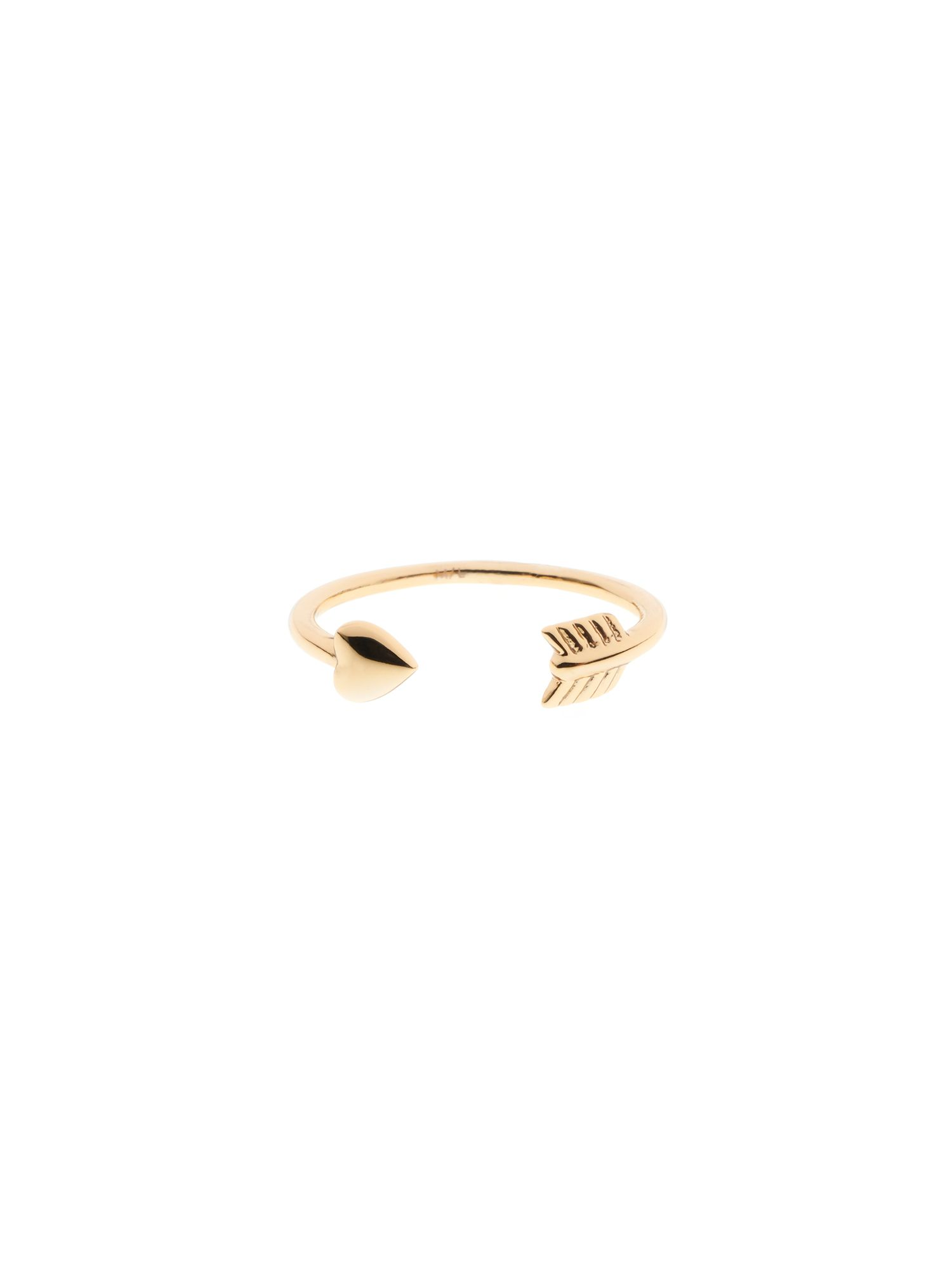 ted baker cassea gold cupid`s arrow ring