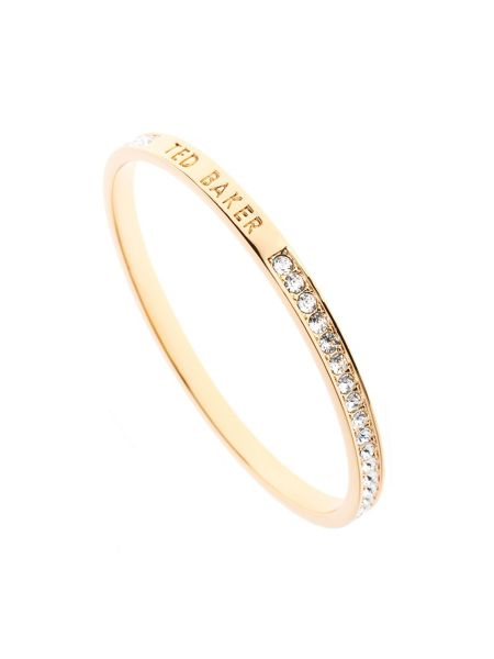 Ted Baker Clem gold narrow crystal band bangle