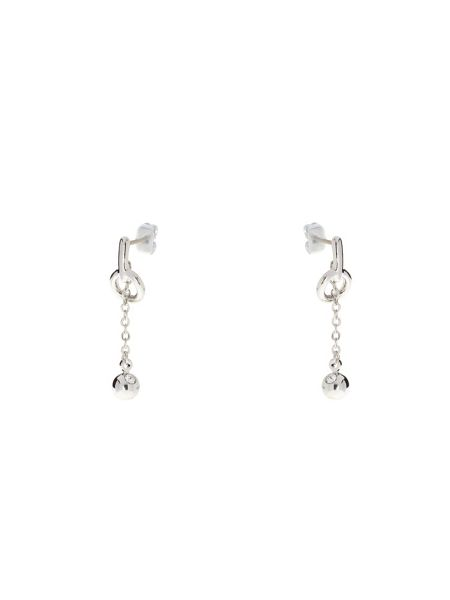 Karen Millen Silver & crystal lariat earrings