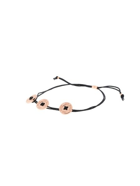Ted Baker Taegen black button cord bracelet