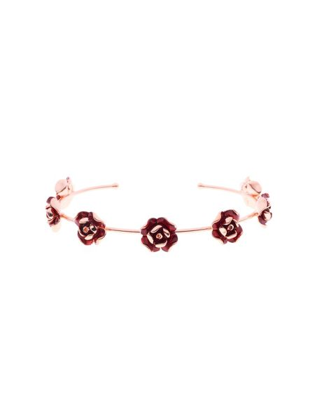 Ted Baker Elenn red enamel rose ultrafine cuff