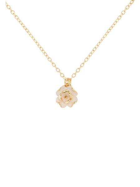 Ted Baker Elliana white enamel rose pendant