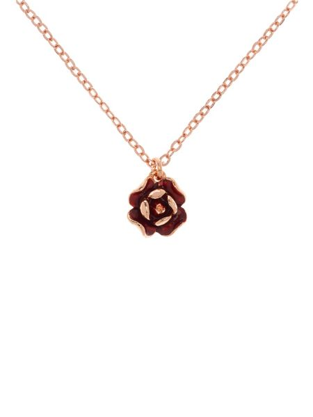 Ted Baker Elliana red enamel rose pendant
