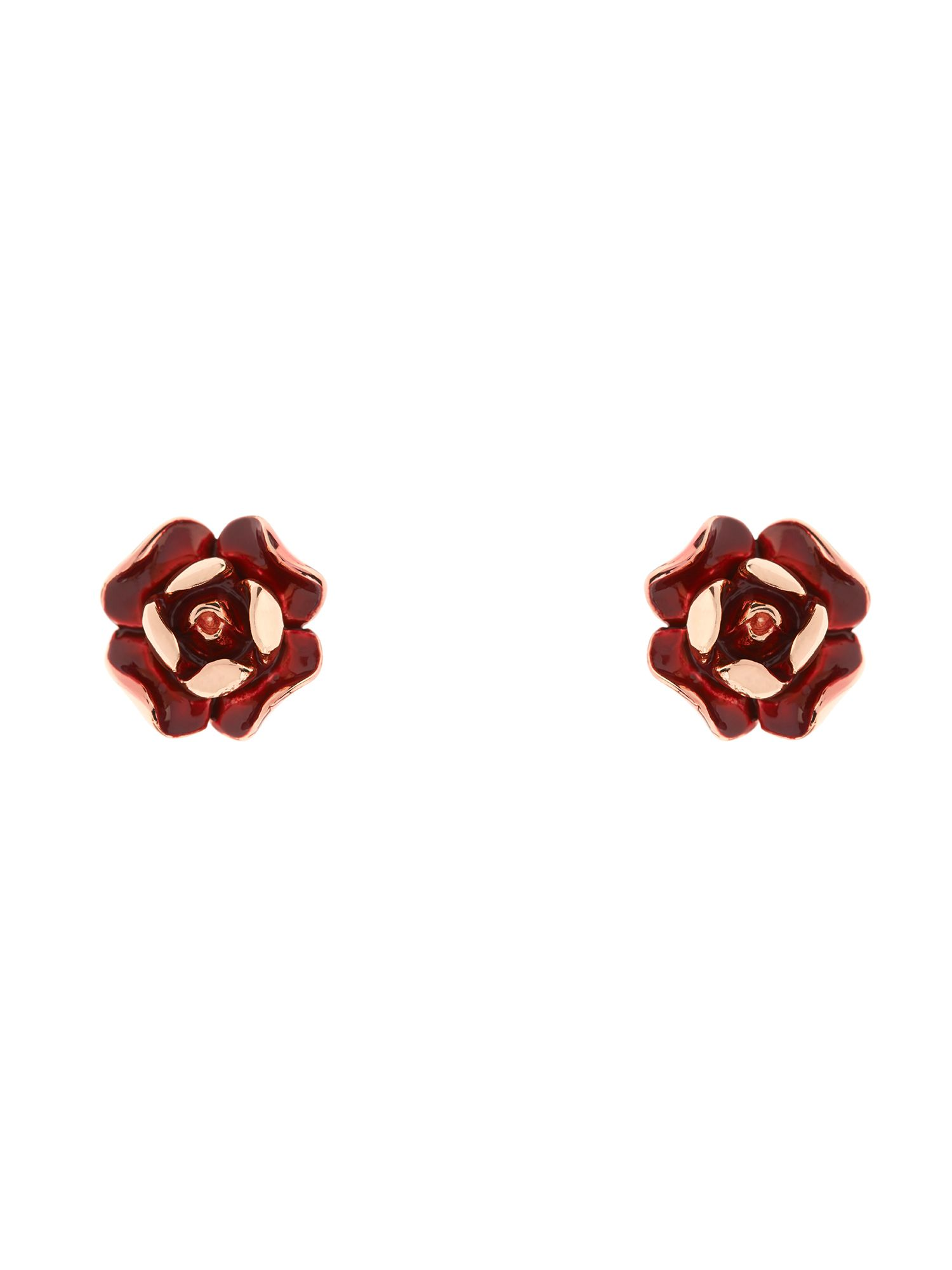 Ted Baker Esmea red enamel rose earring NA