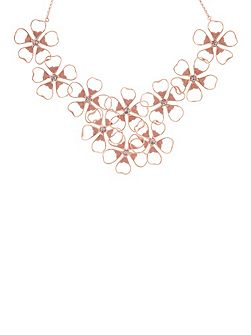 Linndy pink enamel flower necklace