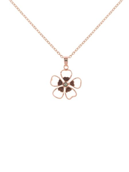 Ted Baker Lerene grey enamel small flower pendant