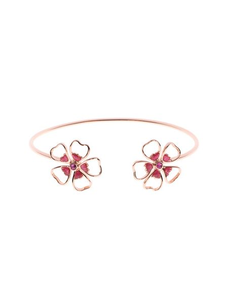 Ted Baker Laveni enamel flower ultrafine cuff