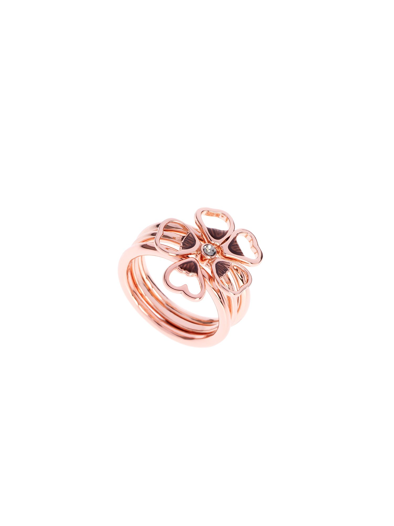 ted baker leotie enamel flower stacking ring