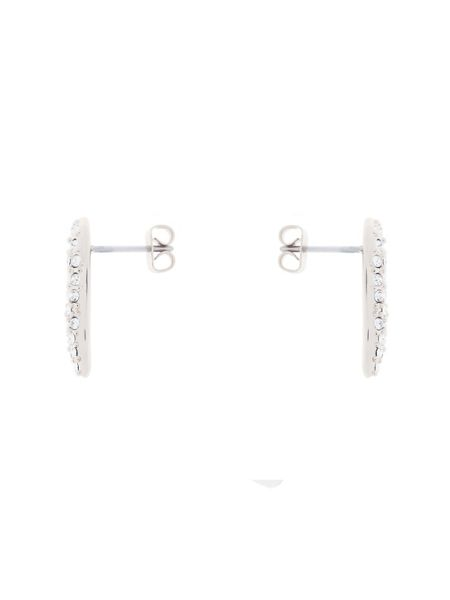 Karen Millen K9510102 pave crystal wave stud earrings