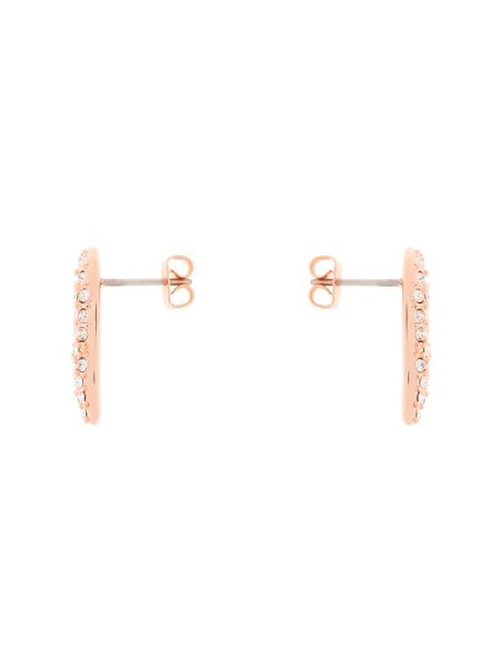 Karen Millen K9512402 pave crystal wave stud earrings
