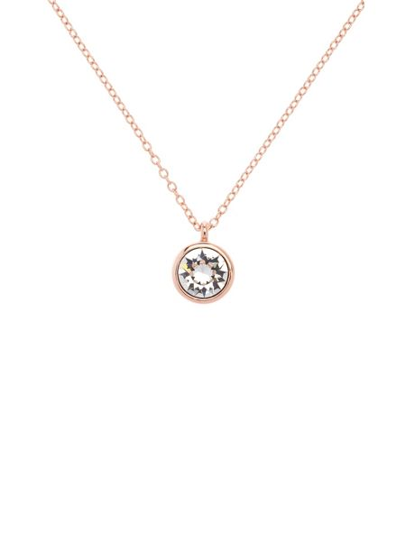 Karen Millen Rose gold & crystal dot necklace