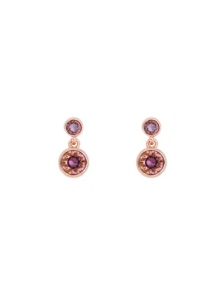 Karen Millen K87924188 crystal dot drop earrings