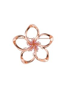 Ted Baker belvas rose gold crystal blossom brooch