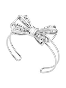 Ted Baker josz silver jewelled bow cuff