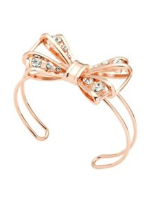 Ted Baker josz rose gold jewelled bow cuff