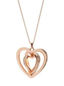 Ted Baker helinna rose gold crystal heart pendant
