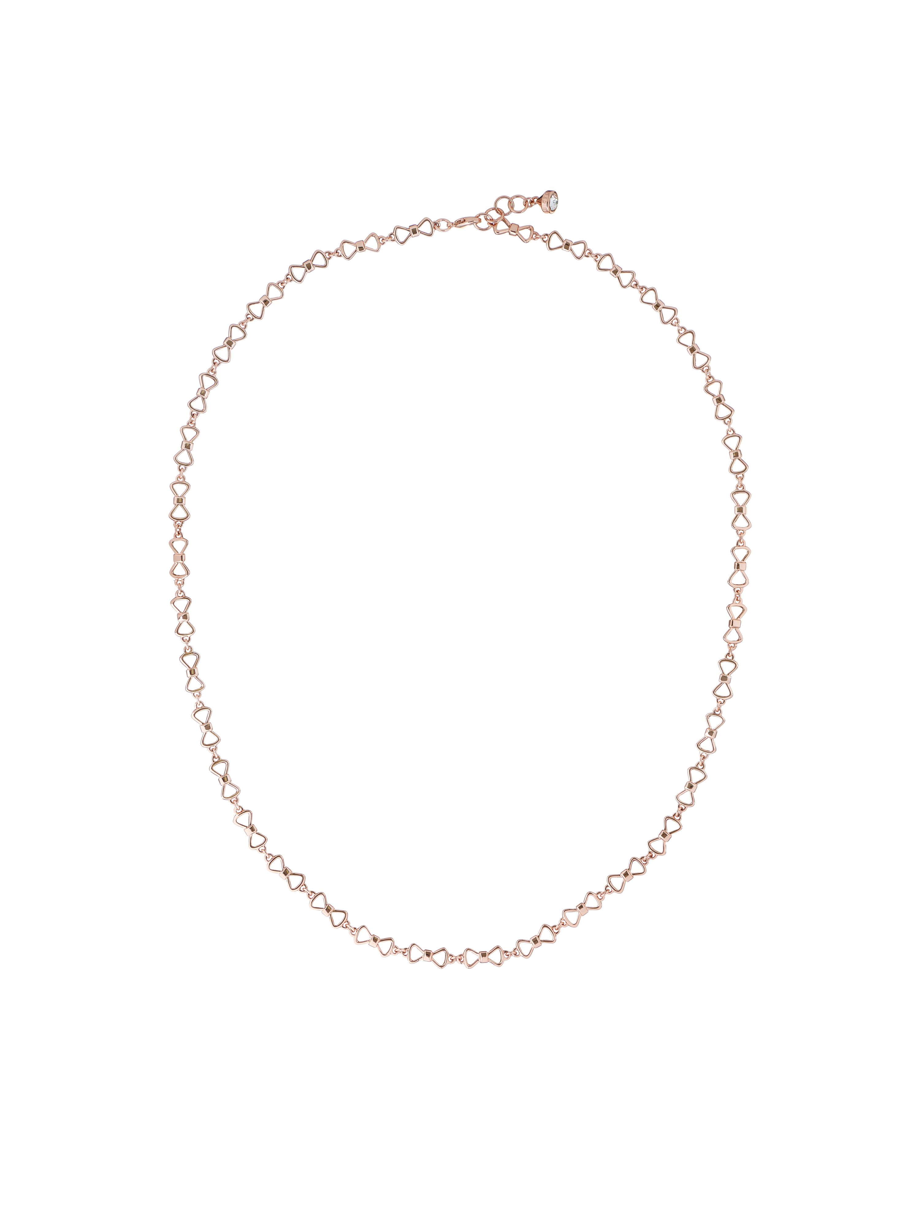 Ted Baker akira rose gold peek a bow necklace Rose Gold